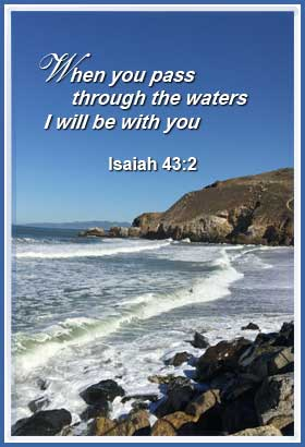 I Will Be With You - Isaiah 43:2 | apply biblical principles | Word Blessings