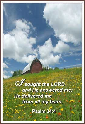 I sought the Lord and He answered me; He delivered me from all my fears | Word Blessings | free from my fears