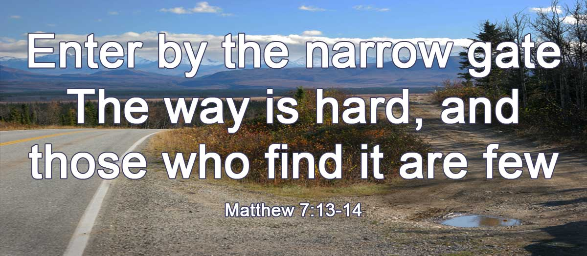 enter by the narrow gate