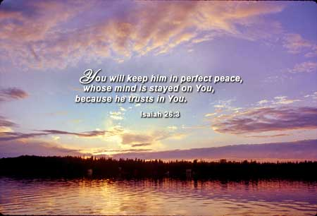 God keeps us in perfect peace